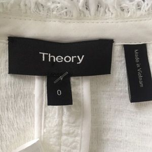 Theory Jackets & Coats - Theory White Tweed Jacket